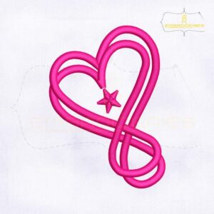 Adorable Double Heart Machine Embroidery Design