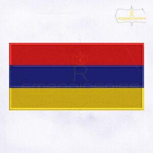 Armenia Flag Machine Embroidery Design