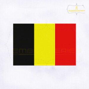 Belgium Flag Machine Embroidery Design