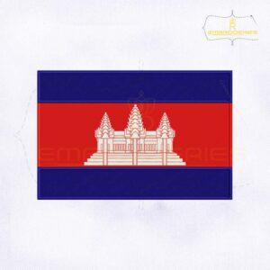 Cambodia Flag Machine Embroidery Design