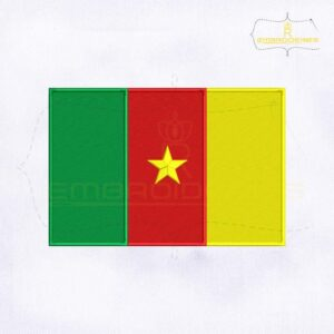 Cameroon Flag Machine Embroidery Design