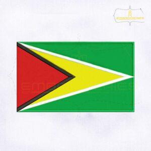Guyana Flag Machine Embroidery Design