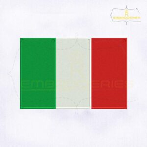 Italy Flag Machine Embroidery Design