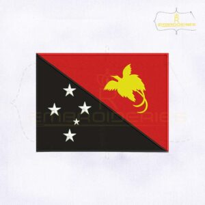 Papua New Guinea Flag Embroidery Design