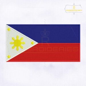 Philippines Flag Machine Embroidery Design
