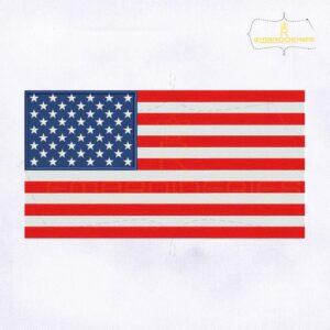 United States of America Flag Machine Embroidery Design