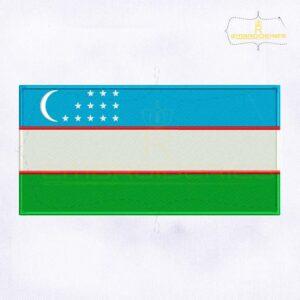 Uzbekistan Flag Machine Embroidery Design