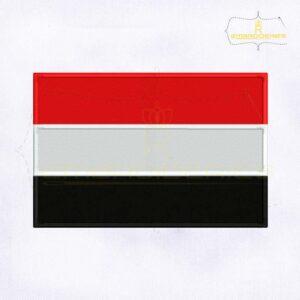 Yemen Flag Machine Embroidery Design