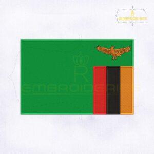 Zambia Flag Machine Embroidery Design