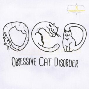Obsessive Cat Disorder Embroidery Design