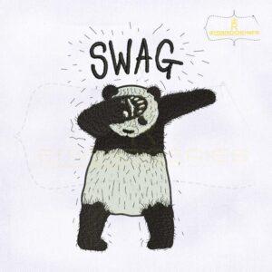 Dub Swag Panda Embroidery Design