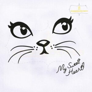 Adorable Cat Face Machine Embroidery Design
