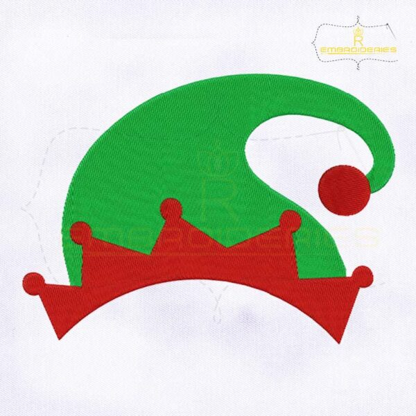 Elf Santa Hat Christmas Embroidery Design