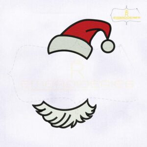 Santa Claus Christmas Hat Monogram Embroidery Design