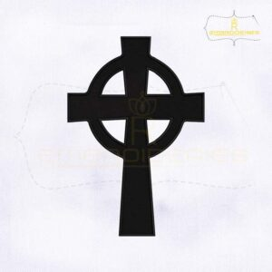 Catholic Church Celtic Cross Embroidery Design