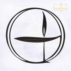 Unitarian Symbol Machine Embroidery Design