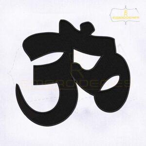 Hindu Symbol Machine Embroidery Design