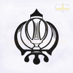 Sikh Khanda Machine Embroidery Design