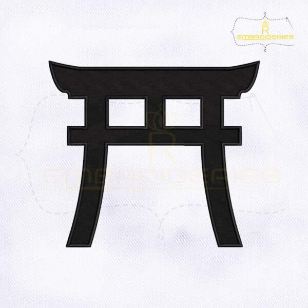 Shinto Symbol Machine Embroidery Design