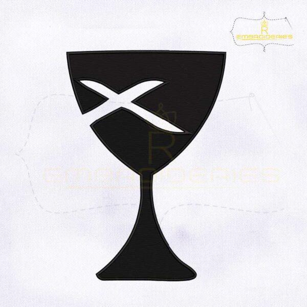 Christian Church Glass Machine Embroidery Design