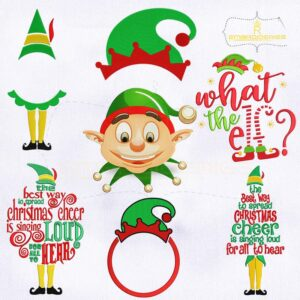 7 Elf Bundle Machine Embroidery Designs