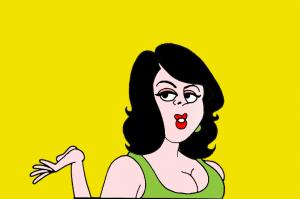 chammak challo cartoon and neighbor wife