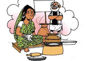 politics in indianarendra modi ujjawala scheme chimta and cylinder