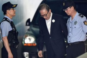 in allegation of corruption lee myung bak arrest