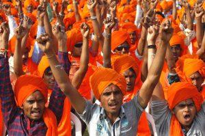 police involve in religious rally