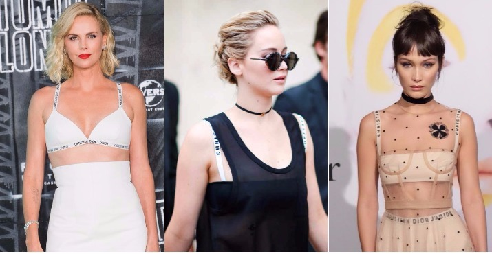 634e9ba2c2  Throwback  Let s Recall All The Times Celebs Showed Off Their Christian  Dior Bra Straps