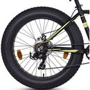 Hero Sprint Pro Big Daddy 24t 7-Speed Bicycle (Black/ Yellow)