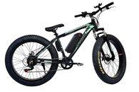 Tronz Fat Tyre E Bike Bicycle, For Men & Women With 7 Shimano Gears (Black)