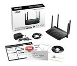 Asus Rt-Acrh13 Dual-Band 2x2 Ac1300 Wifi 4-Port Gigabit Router With Usb 3.0 (Black)