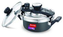Prestige Svachh Clip-On Mini Hard Anodized Pressure Cooker (Black)