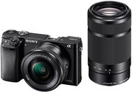Sony Alpha Ilce 6000y 24.3 Mp Mirrorless Camera With 16-50 Mm And 55-210 Zoom Lenses (Black,Sd Card Storage)