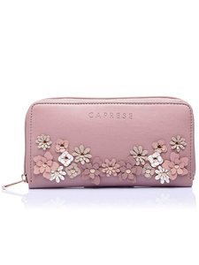 Caprese Flora Women'S Wallet (Dusty Pink)