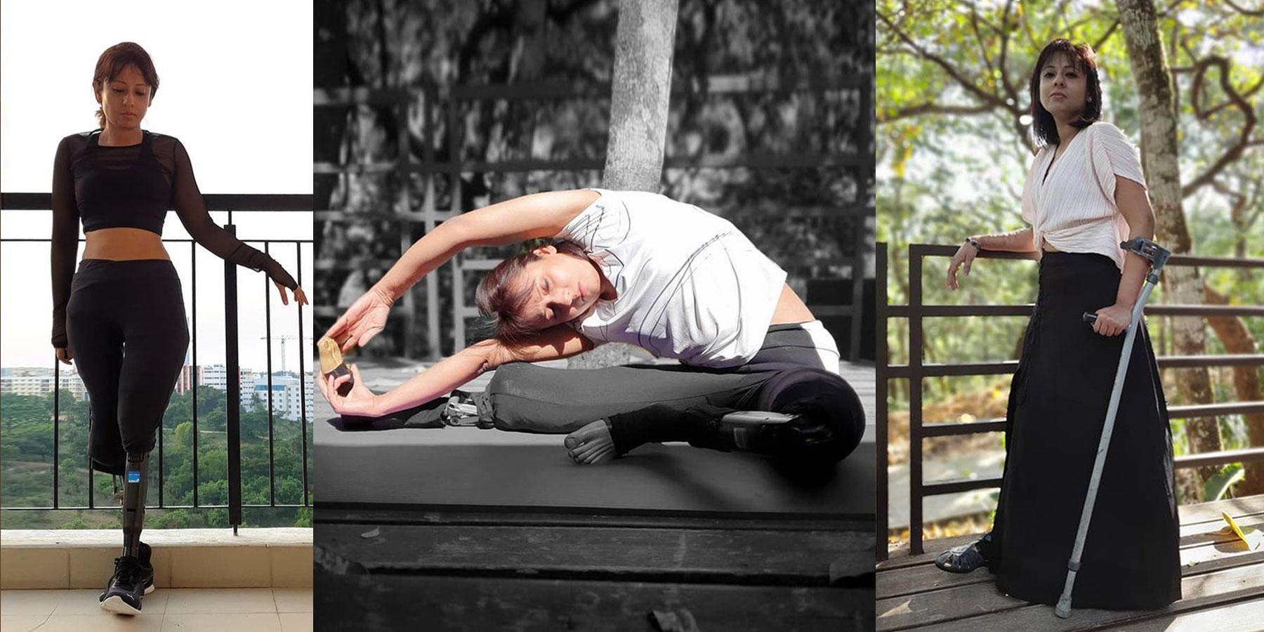 arpita roy amputee yoga instructor