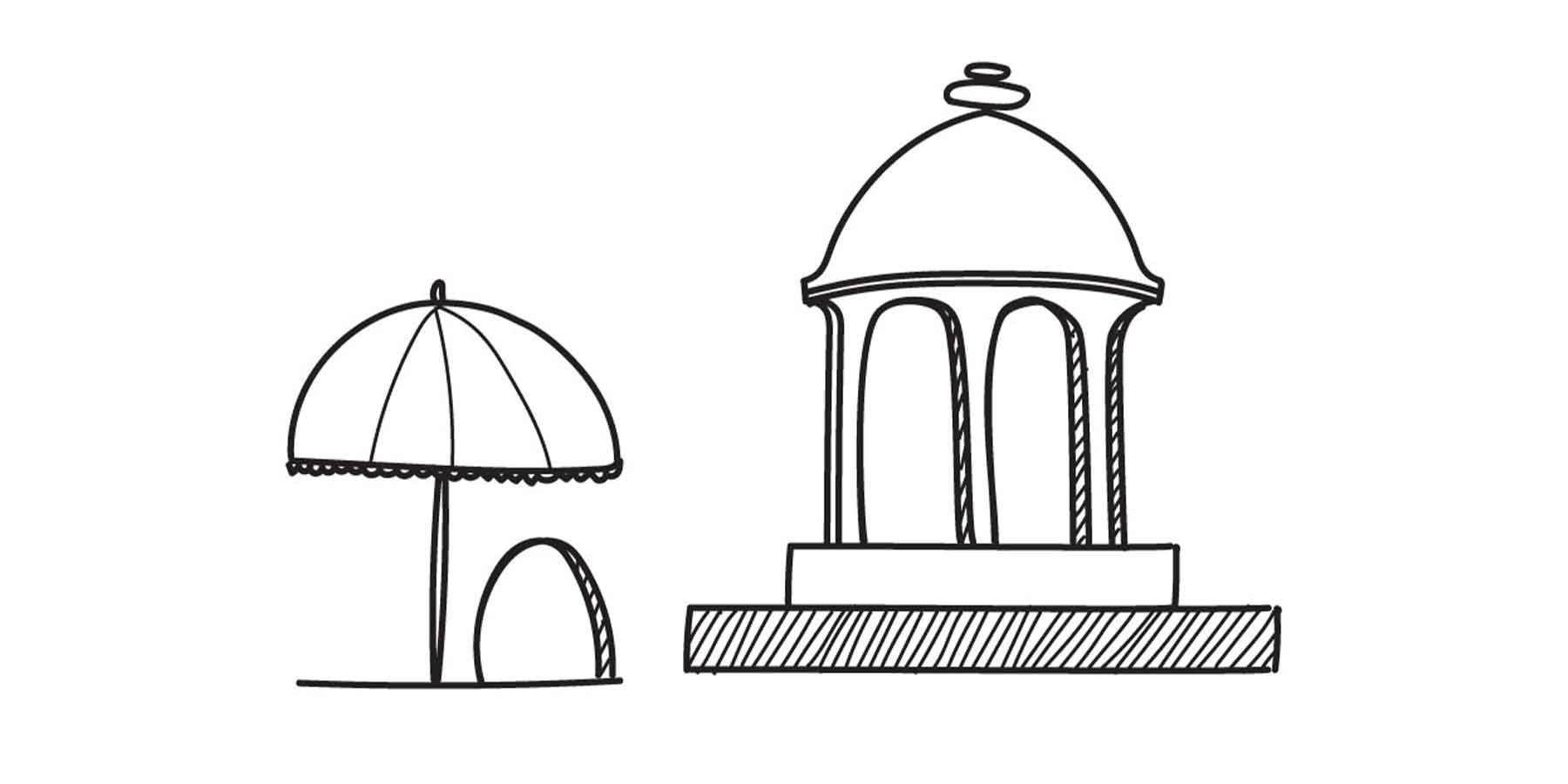 The Rajput's umbrella