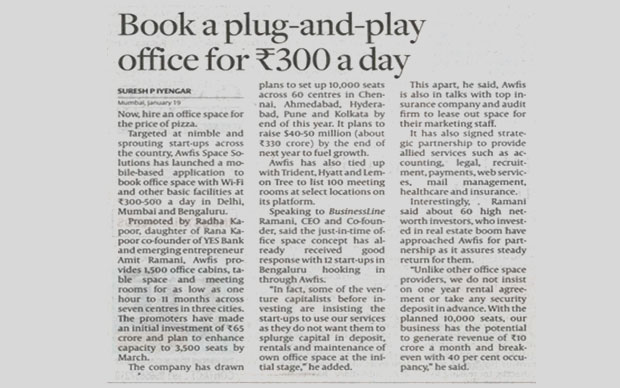 Book a plug-and-play office for ₹300 a day