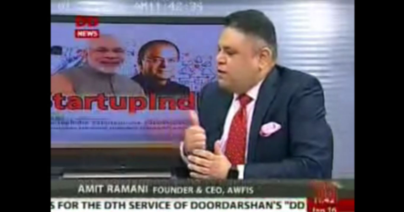 Amit Ramani Live on DD News discussion panel on Startup India movement