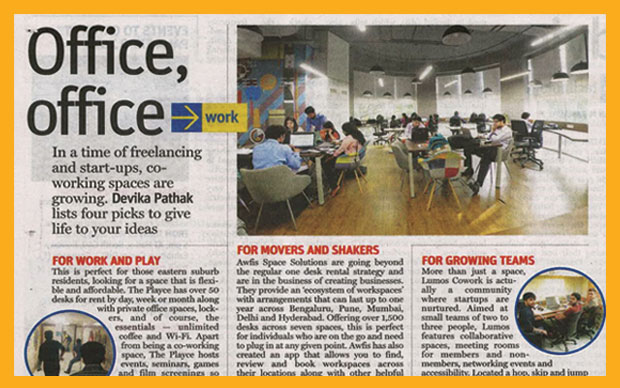 Awfis- One of the coolest places in Mumbai to ideate