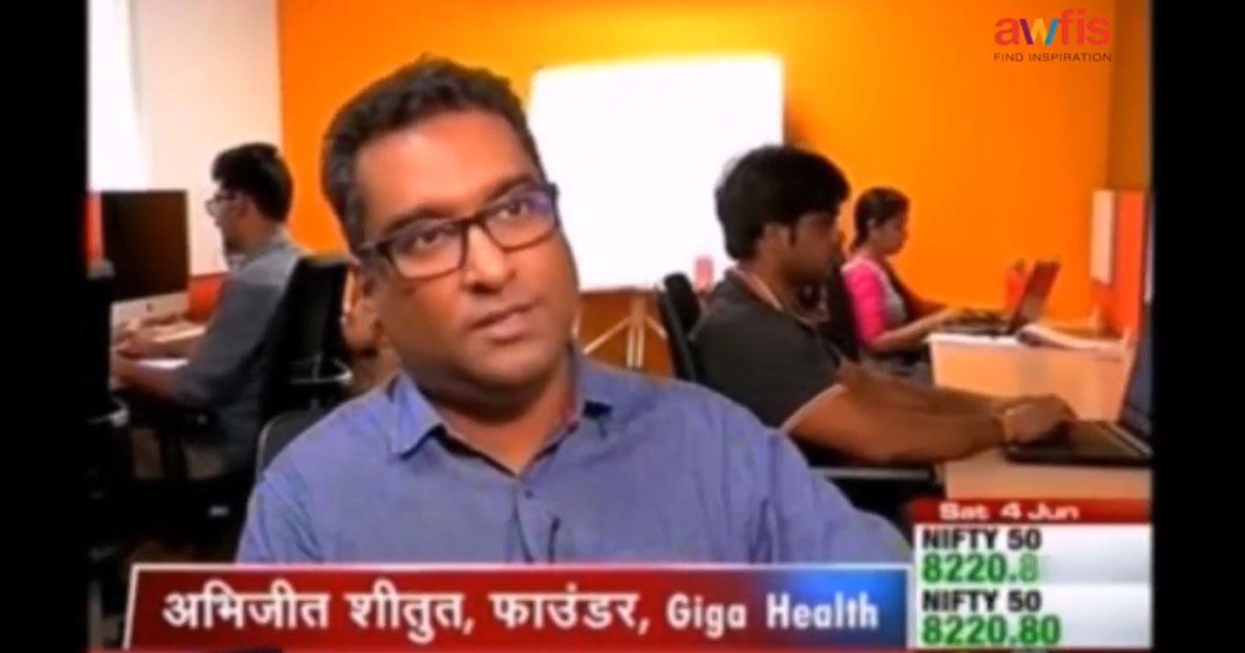Abhijit Shitut (Awfis Member) on CNBC Awaaz