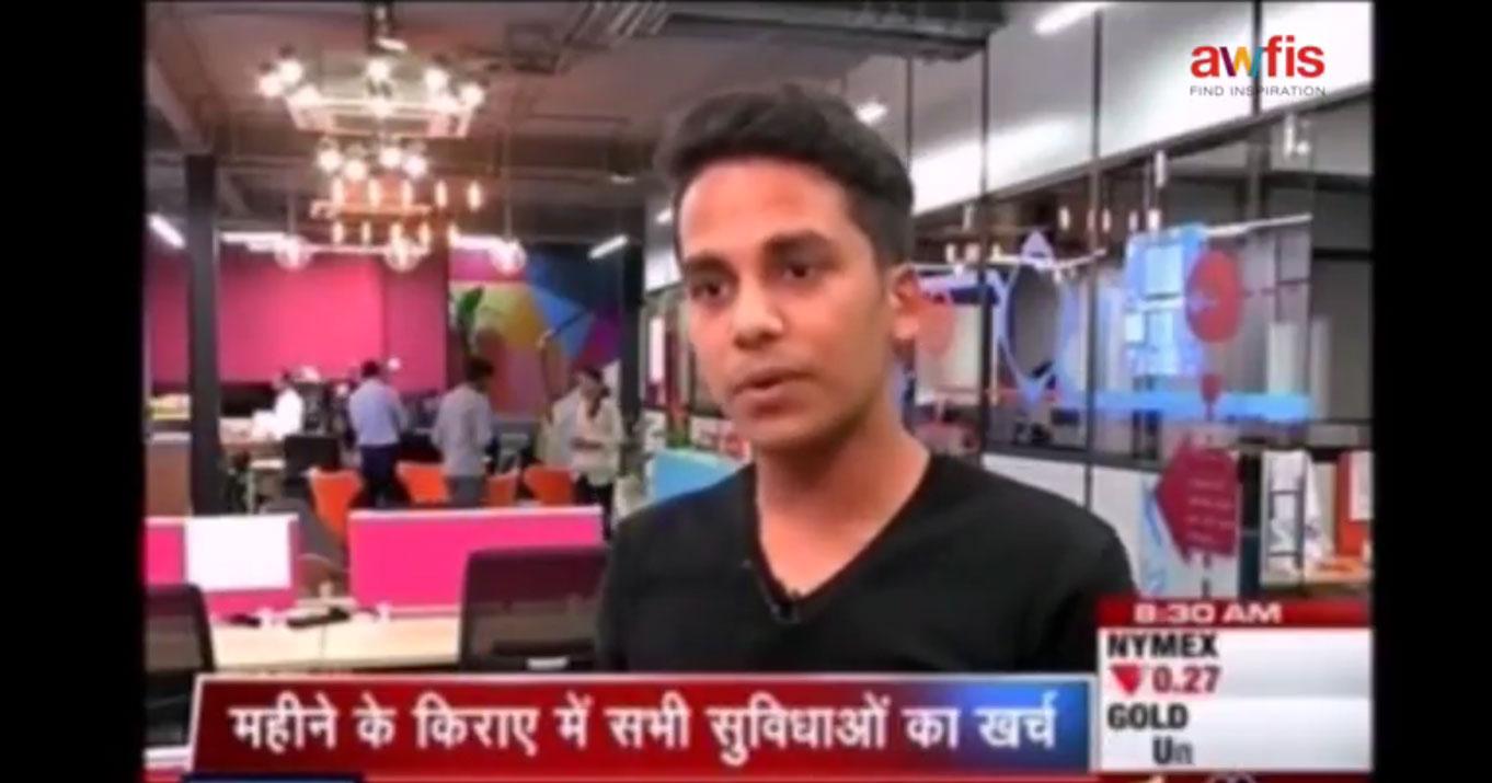 Romil Jain (Awfis Member) on CNBC Awaaz