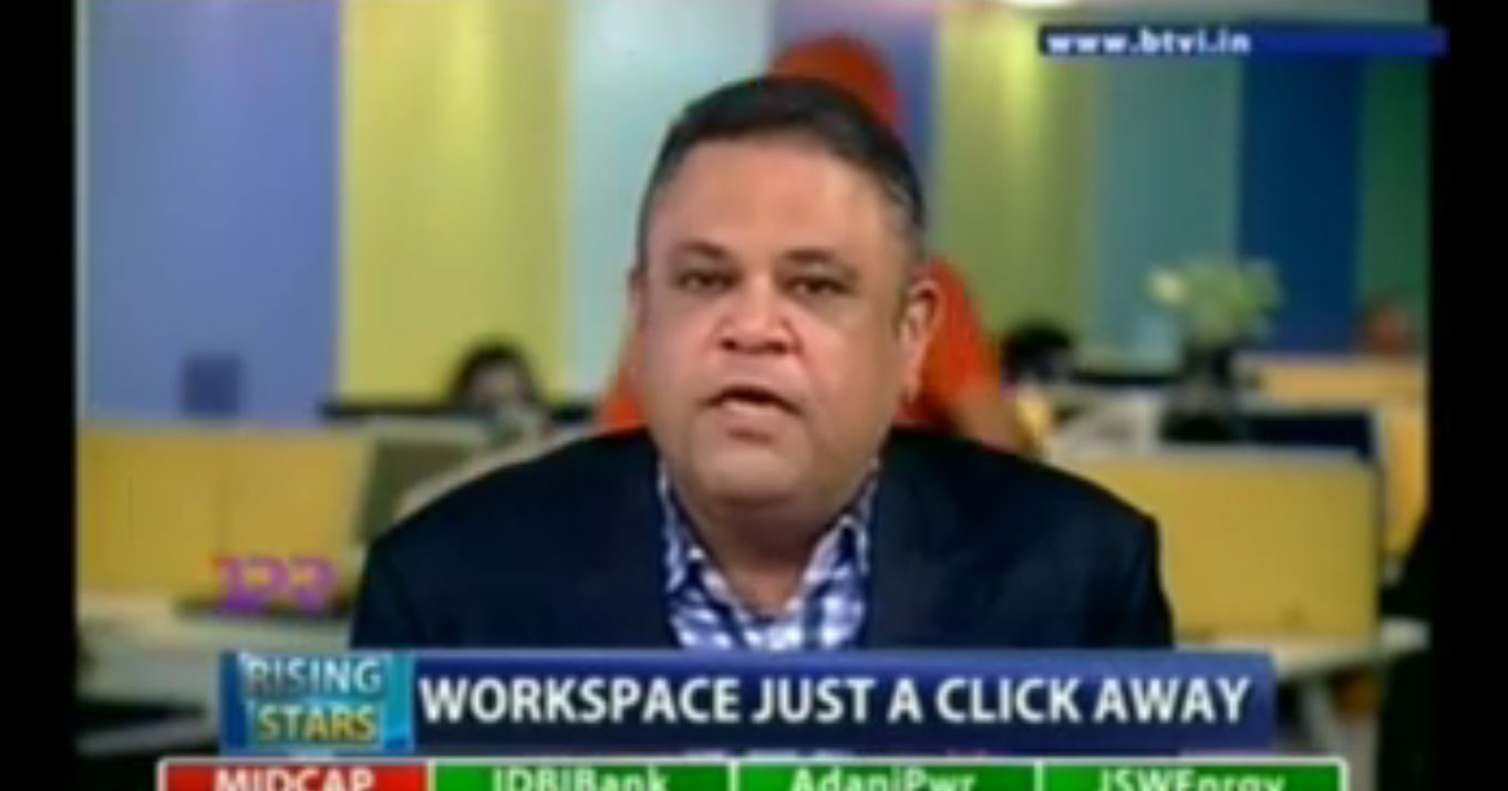 Amit Ramani (Founder & CEO- Awfis Space Solutions Pvt Ltd) on Bloomberg TV Rising Star