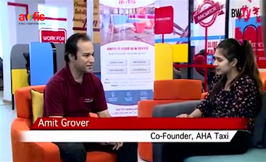 Interview of Amit Grover, Co-founder of AHA Taxi