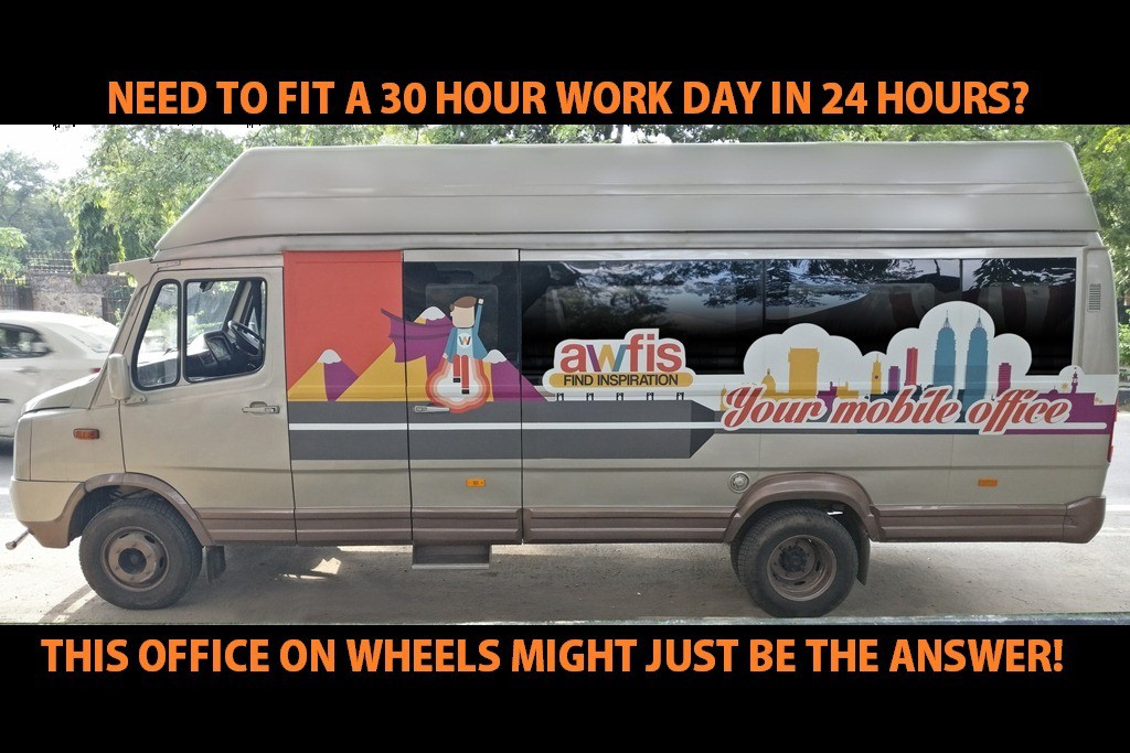 Awfis is literally helping you drive your Startup with a workspace on wheels!