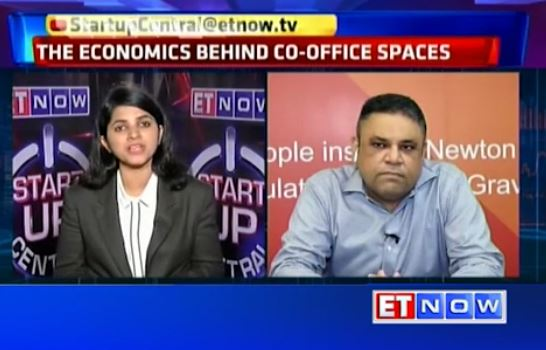 ET Now - Startup Central : The economics behind co-working spaces