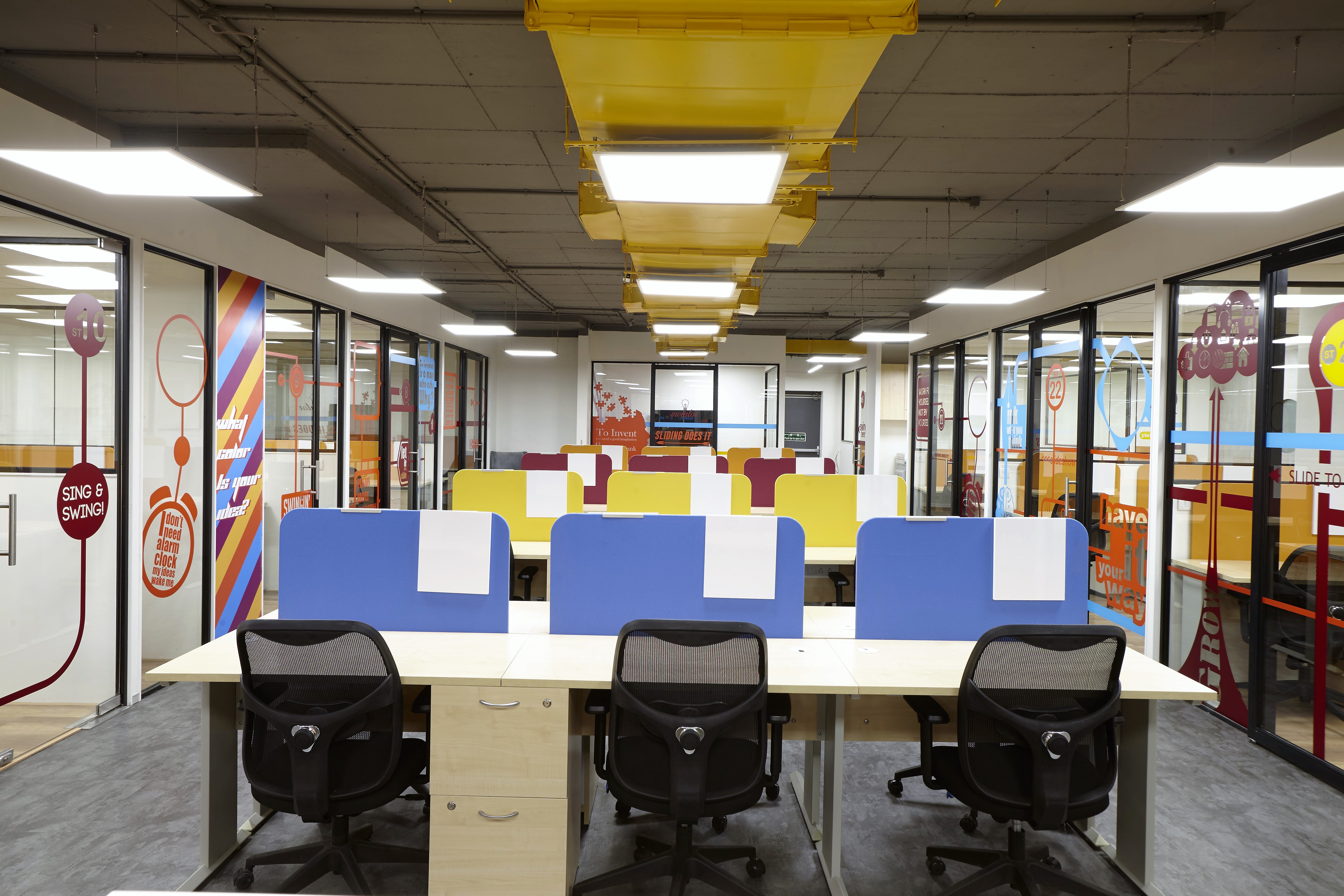 Co-working spaces attract both startups and corporates