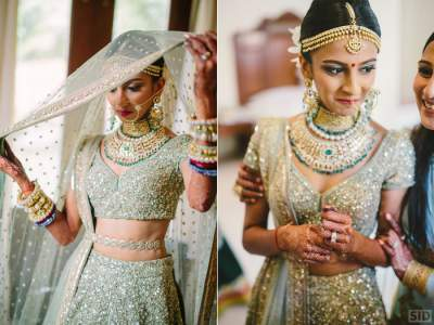 Trendy colours of lehengas for bride 2018