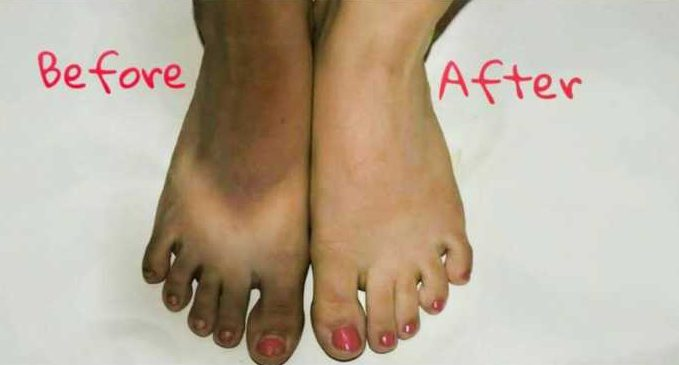 Tanned feet